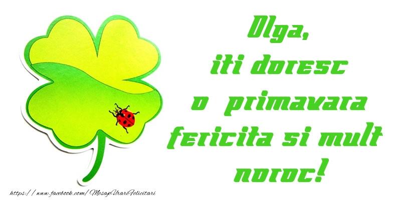 Felicitari de Martisor   Olga iti doresc o primavara fericita si mult noroc!