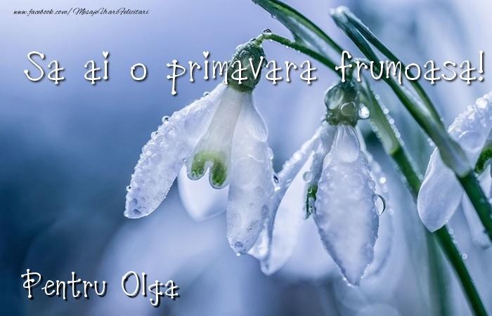Felicitari de Martisor   Va doresc o primavara minunata Olga