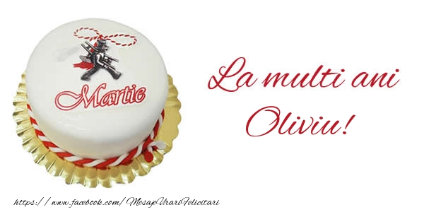 Felicitari de Martisor | 1 martie La multi ani  Oliviu!