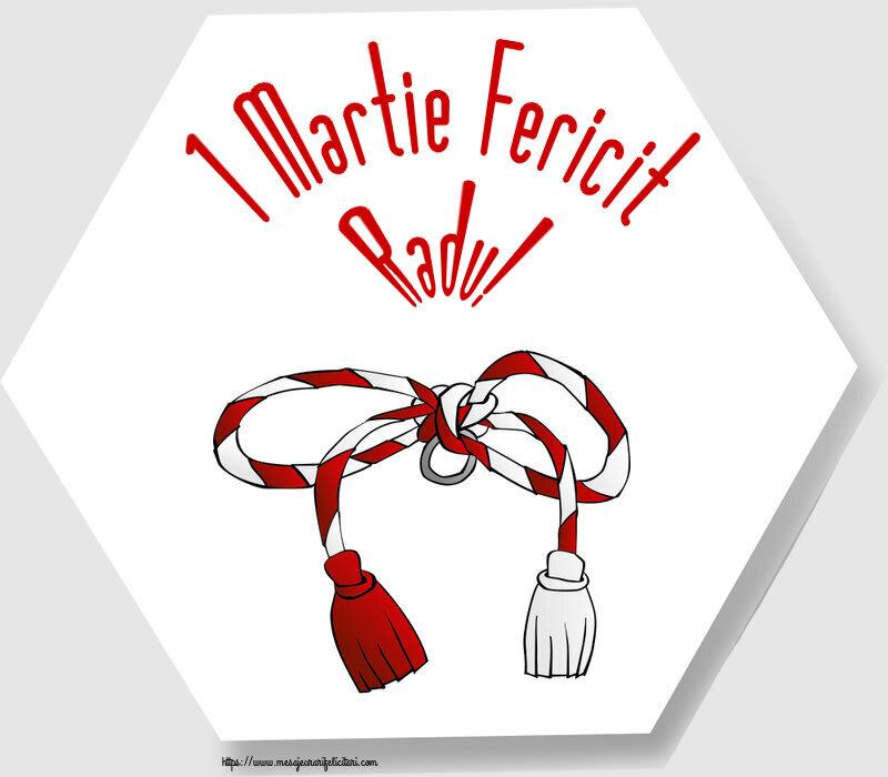 Felicitari de Martisor   1 Martie Fericit Radu!