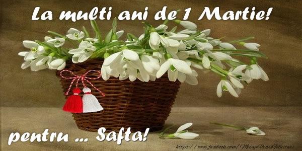 Felicitari de Martisor | La multi ani de 1 Martie! pentru Safta