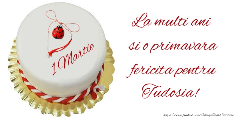 Felicitari de Martisor | La multi ani  si o primavara fericita pentru Tudosia!
