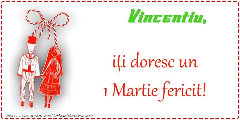 Felicitari de Martisor | Vincentiu iti doresc o primavara fericita si mult noroc!