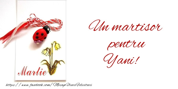 Felicitari de Martisor   Un martisor pentru Yani!