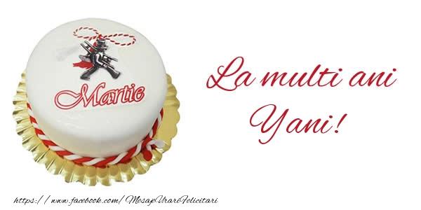 Felicitari de Martisor   1 martie La multi ani  Yani!