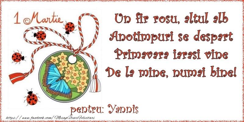 Felicitari de Martisor | Un fir rosu, altul alb ... Pentru Yannis!