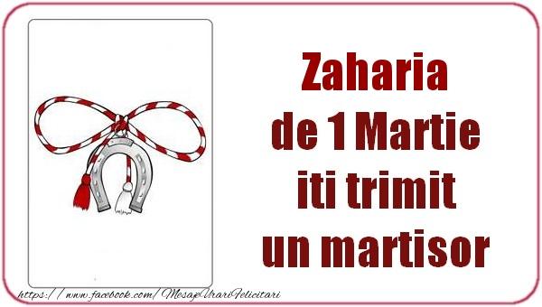 Felicitari de Martisor | Zaharia de 1 Martie  iti trimit  un martisor