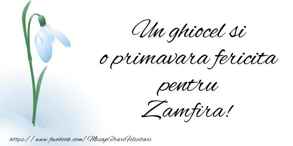 Felicitari de Martisor   Un ghiocel si o primavara fericita pentru Zamfira!