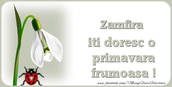 Felicitari de Martisor   Zamfira iti doresc o primavara frumoasa