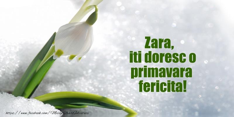 Felicitari de Martisor   Zara, iti doresc o primavara fericita!