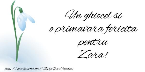 Felicitari de Martisor | Un ghiocel si o primavara fericita pentru Zara!