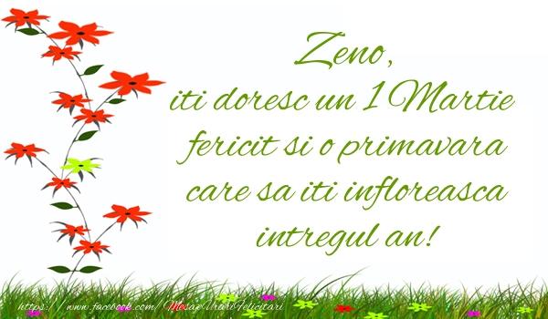 Felicitari de Martisor | Zeno iti doresc un 1 Martie  fericit si o primavara care sa iti infloreasca intregul an!