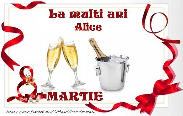 Felicitari 8 Martie Ziua Femeii | La multi ani Alice