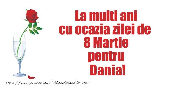 Felicitari 8 Martie Ziua Femeii | La multi ani cu ocazia zilei de  8 Martie pentru Dania!