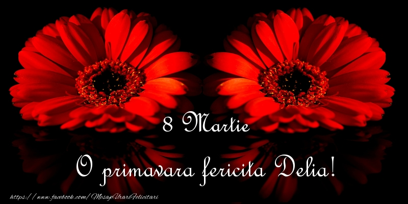 Felicitari 8 Martie Ziua Femeii | O primavara fericita Delia!