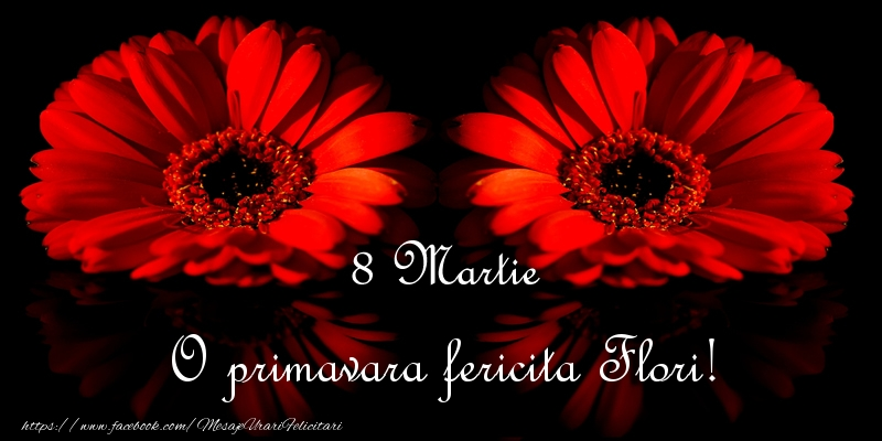 Felicitari 8 Martie Ziua Femeii | O primavara fericita Flori!
