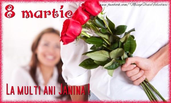 Felicitari 8 Martie Ziua Femeii   8 Martie. La multi ani Janina