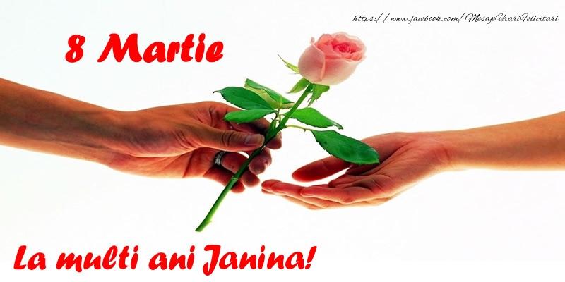 Felicitari 8 Martie Ziua Femeii   8 Martie La multi ani Janina!