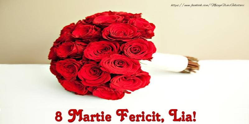 Felicitari 8 Martie Ziua Femeii | 8 Martie Fericit, Lia!