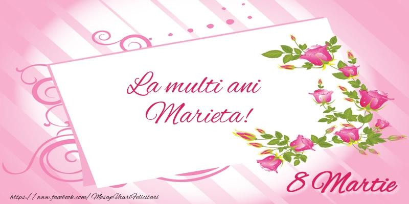Felicitari 8 Martie Ziua Femeii | La multi ani Marieta! 8 Martie