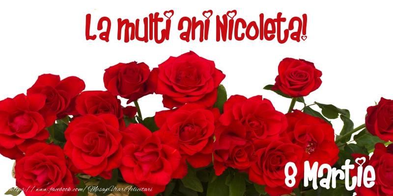 Felicitari 8 Martie Ziua Femeii | La multi ani Nicoleta! 8 Martie