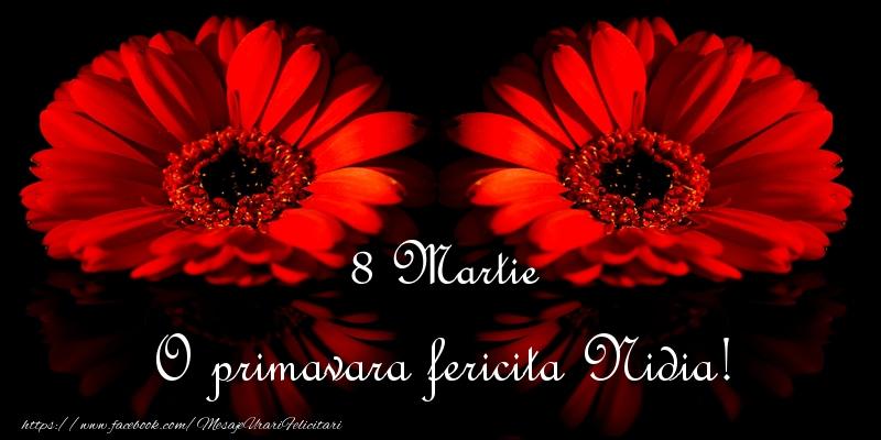 Felicitari 8 Martie Ziua Femeii   O primavara fericita Nidia!