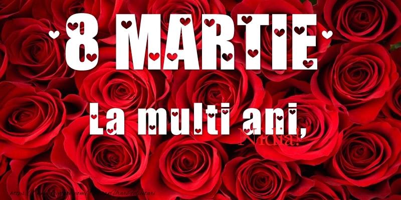 Felicitari 8 Martie Ziua Femeii   La multi ani de 8 Martie pentru Nidia!