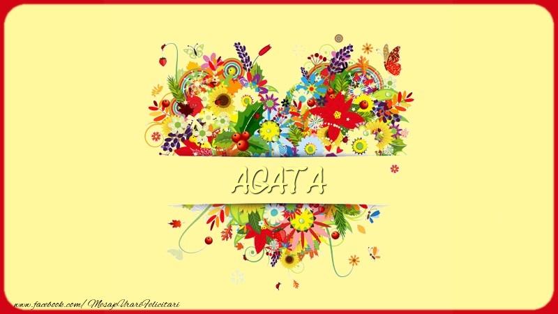 Felicitari de dragoste | Nume in inima Agata