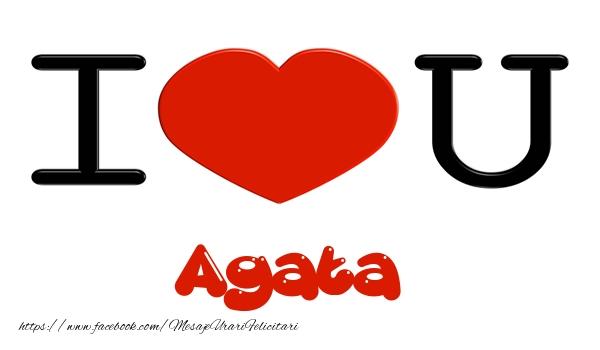 Felicitari de dragoste | I love you Agata