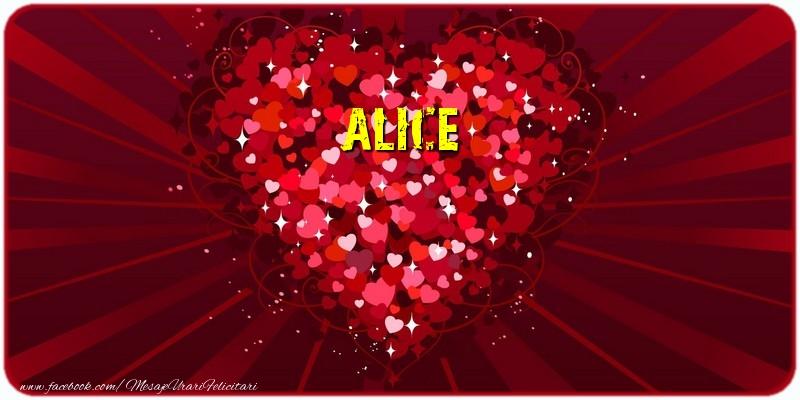 Felicitari de dragoste | Alice