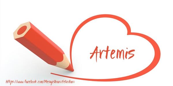 Felicitari de dragoste | Te iubesc Artemis