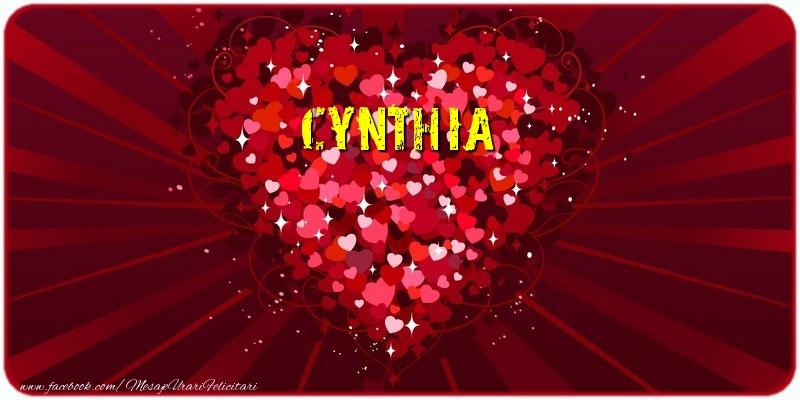 Felicitari de dragoste   Cynthia