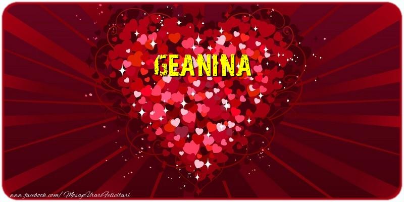 Felicitari de dragoste | Geanina