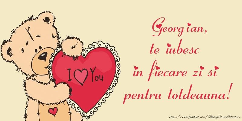 Felicitari de dragoste | Georgian, te iubesc in fiecare zi si pentru totdeauna!