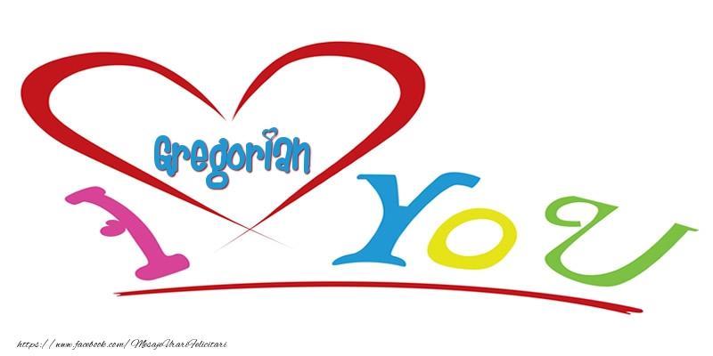 Felicitari de dragoste   I love you Gregorian