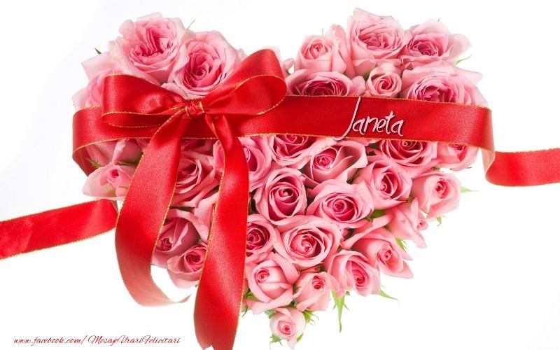 Felicitari de dragoste | Flori pentru Janeta