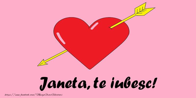 Felicitari de dragoste | Janeta, te iubesc!