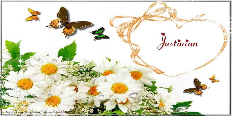 Felicitari de dragoste | I love you Justinian!
