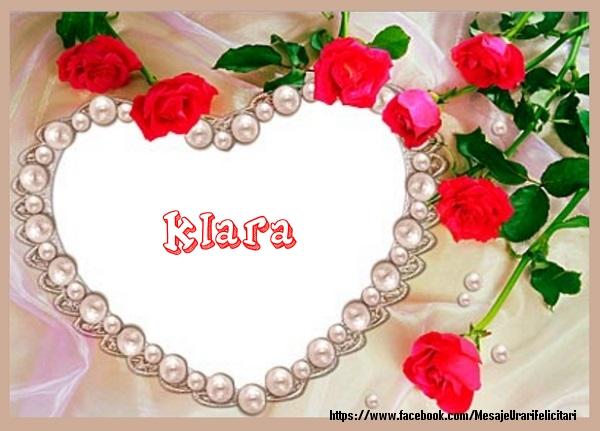 Felicitari de dragoste | Te iubesc Klara!