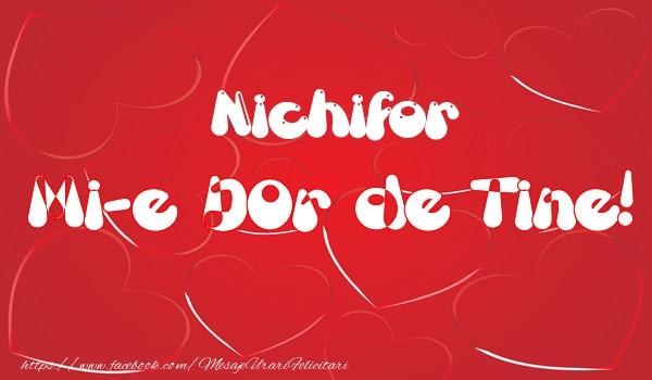 Felicitari de dragoste | Nichifor mi-e dor de tine!