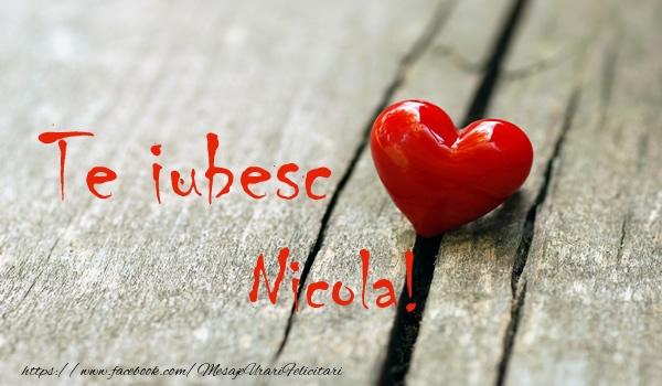 Felicitari de dragoste | Te iubesc Nicola!