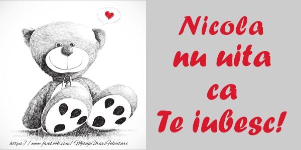 Felicitari de dragoste | Nicola nu uita ca Te iubesc!