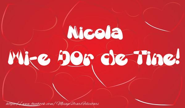 Felicitari de dragoste | Nicola mi-e dor de tine!