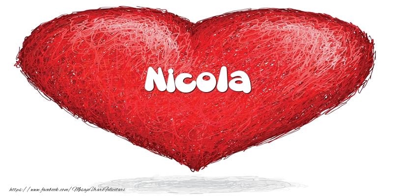 Felicitari de dragoste | Pentru Nicola din inima