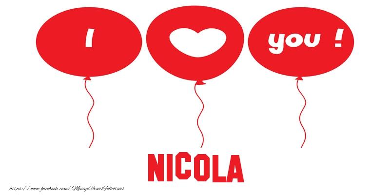 Felicitari de dragoste | I love you Nicola!