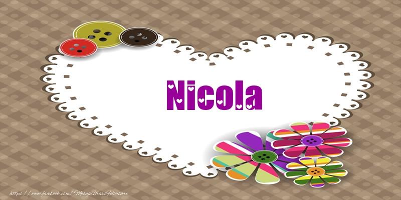 Felicitari de dragoste   Pentru Nicola din inima