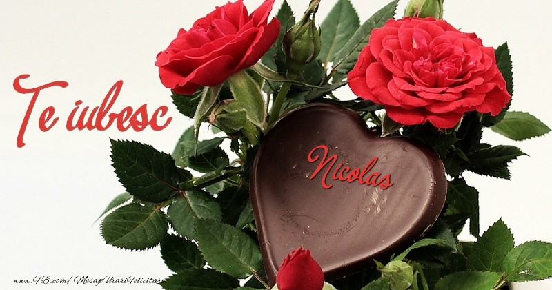 Felicitari de dragoste   Te iubesc, Nicolas!
