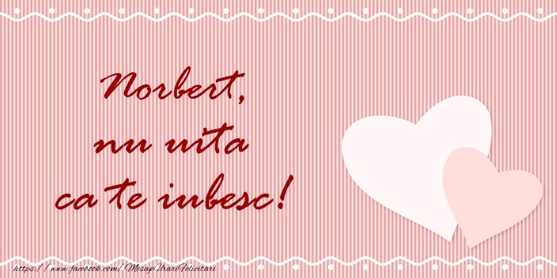 Felicitari de dragoste | Norbert nu uita ca te iubesc!