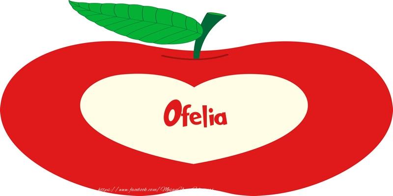 Felicitari de dragoste | O inima pentru Ofelia