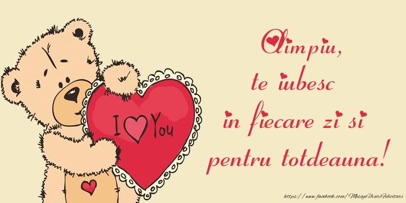 Felicitari de dragoste | Olimpiu, te iubesc in fiecare zi si pentru totdeauna!